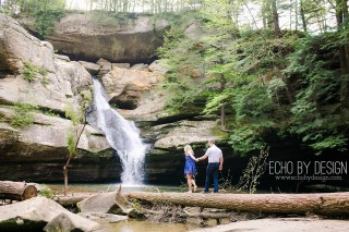 Hocking Hills Cedar Falls Engagement Photo